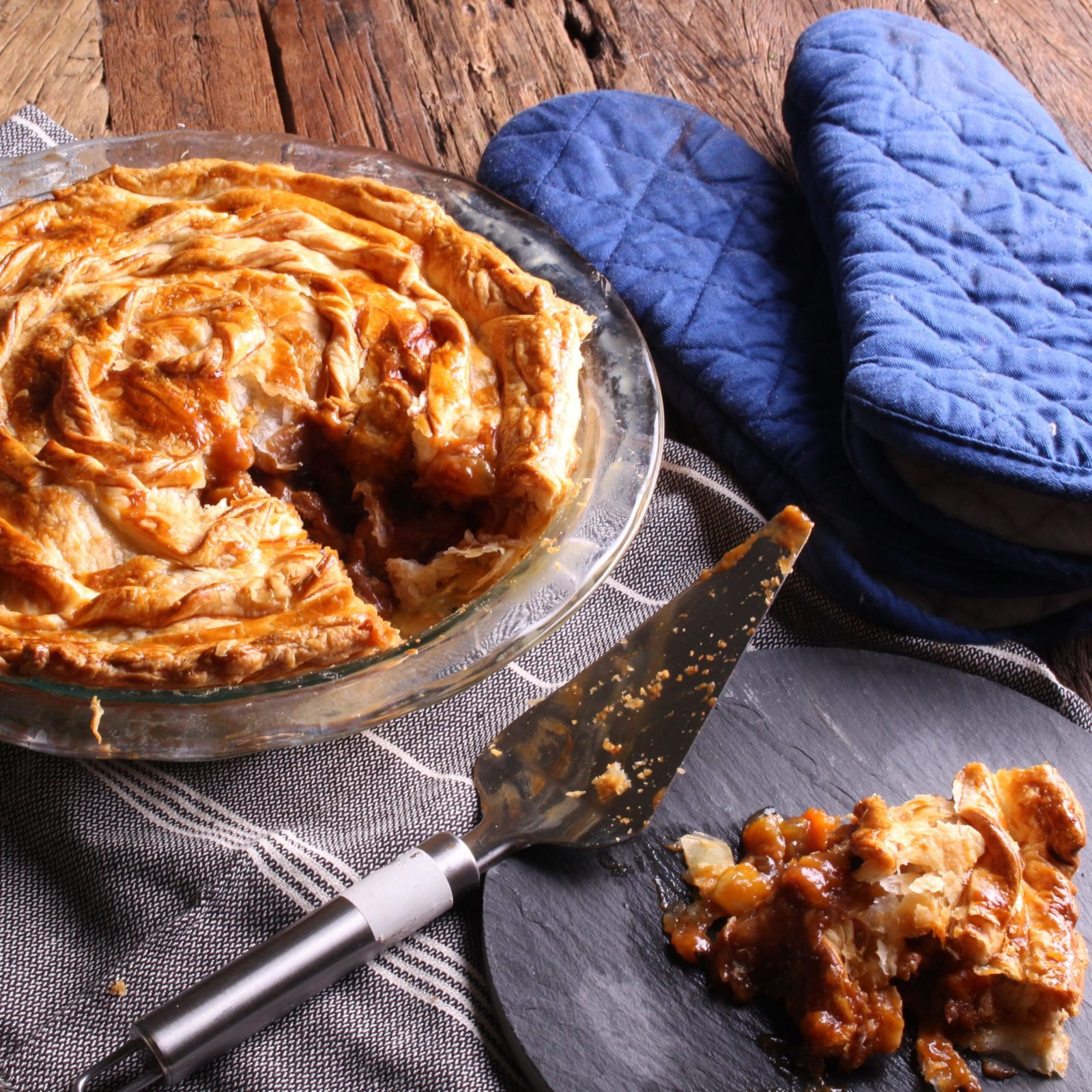 Honey Pepper Pork Pie - Three Aussie Farmers Honey Pepper Pork Steaks