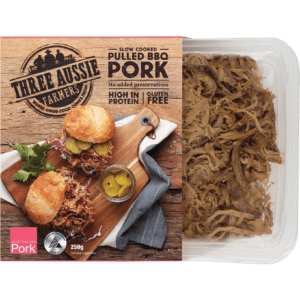 Three Aussie Farmers Slow Cooked Pulled Pork
