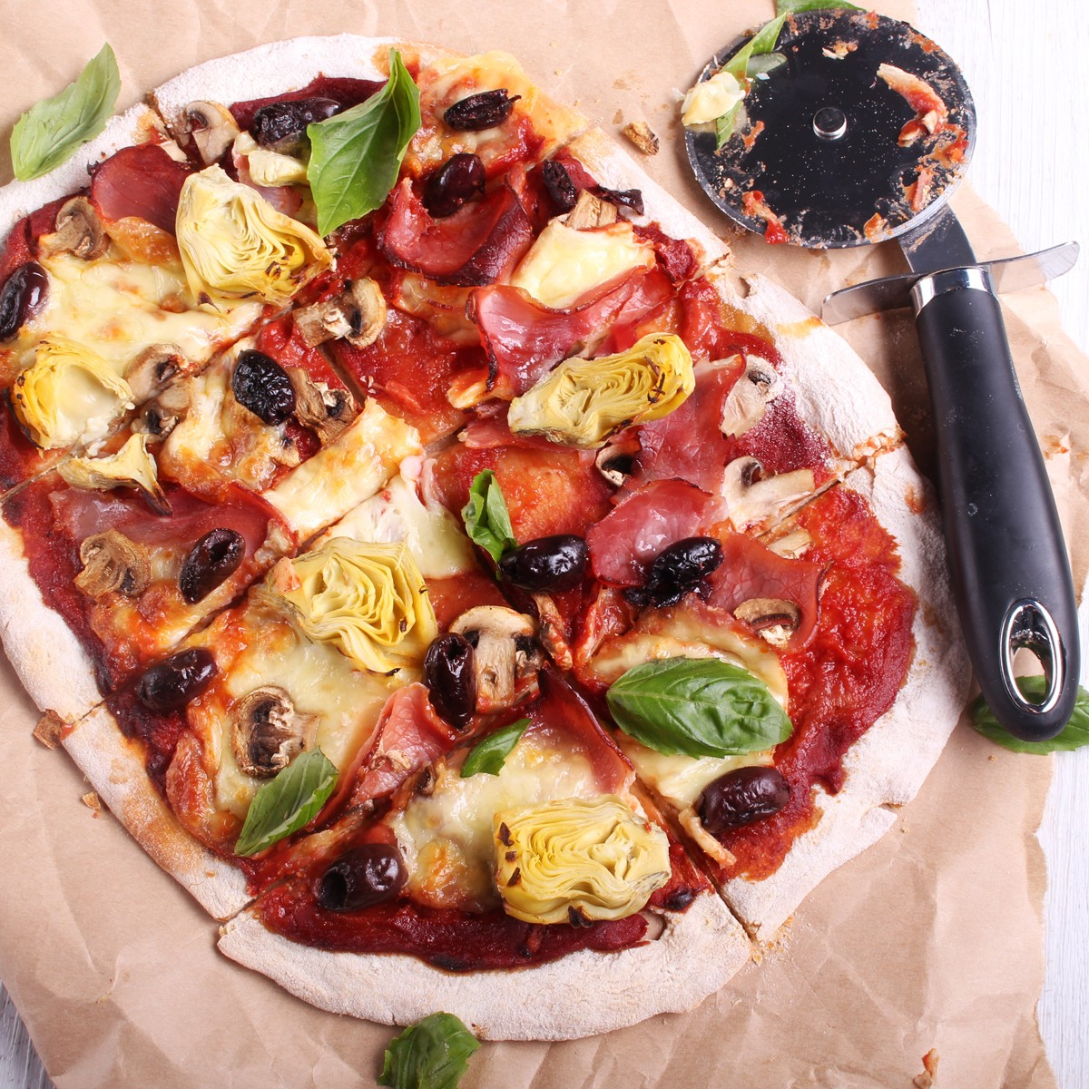 Capricciosa Pizza - Three Aussie Farmers Leg Ham