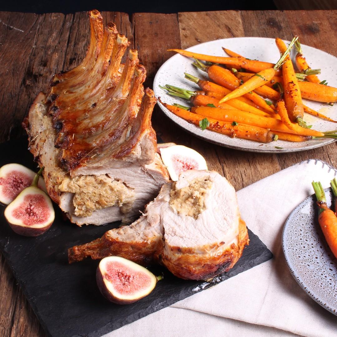 Fig and Apple Stuffed Pork Rib Rack - SunPork Pork Rack