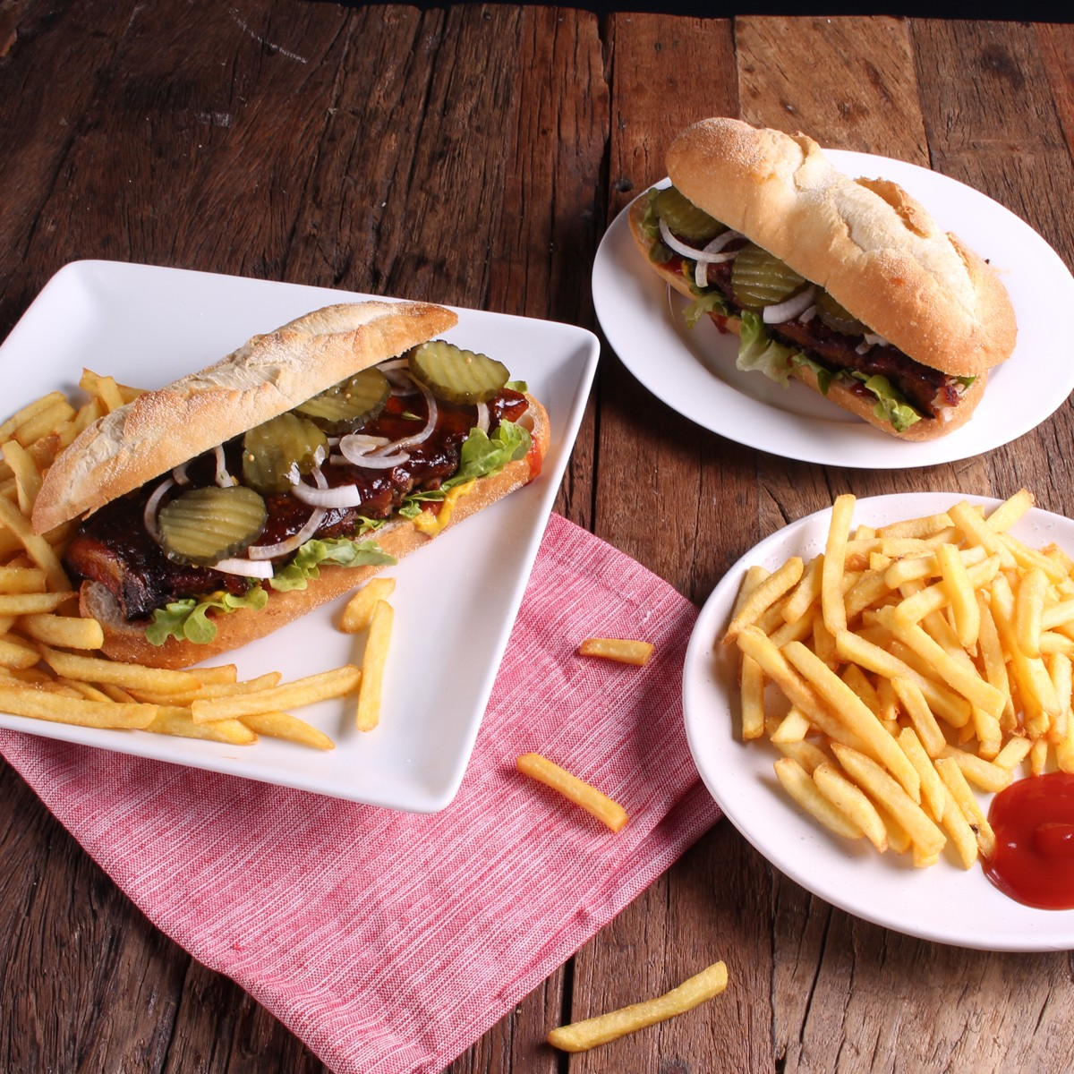 Homemade Boneless BBQ Pork Rib Sandwich - SunPork Pork Loin Ribs