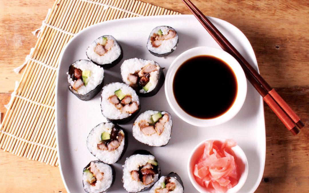 Teriyaki Pork Sushi Rolls