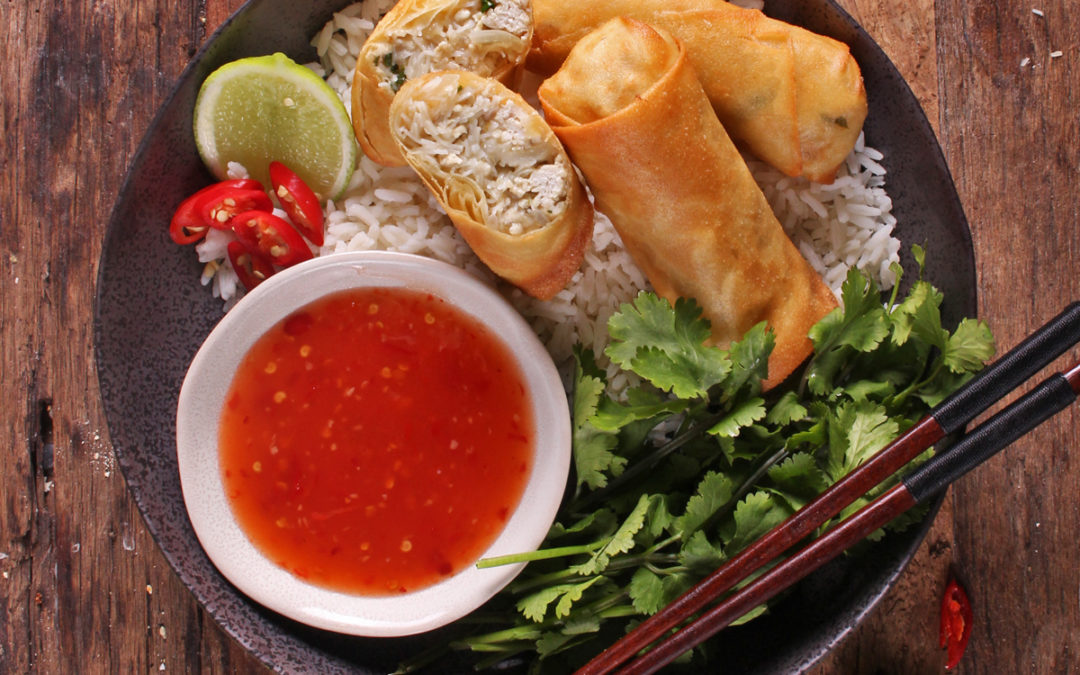 Thai Green Curry Pork Spring Rolls