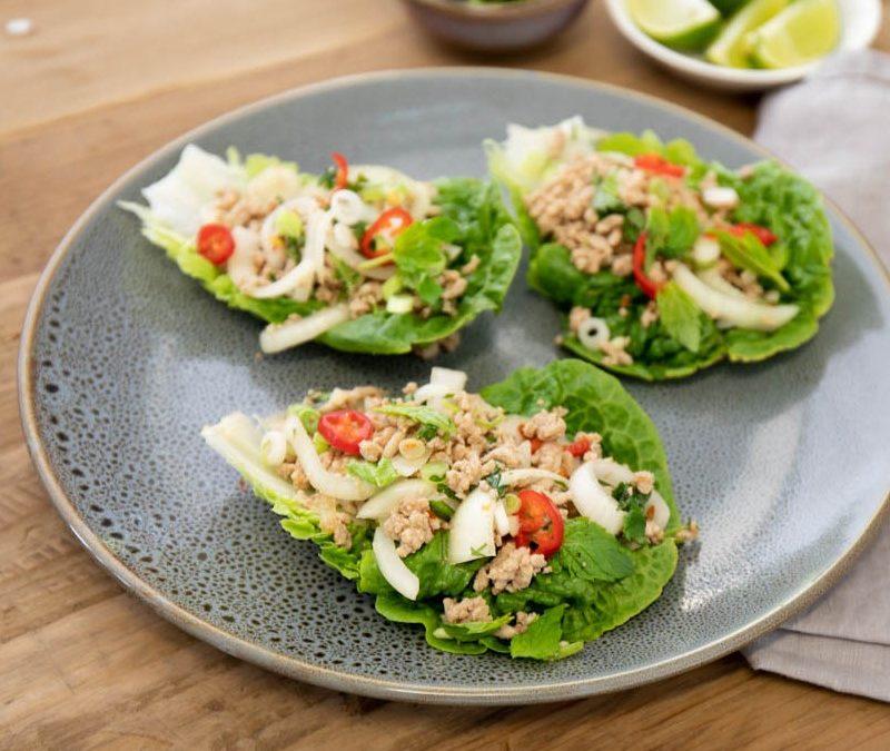 Thai Pork Larb Lettuce Cups