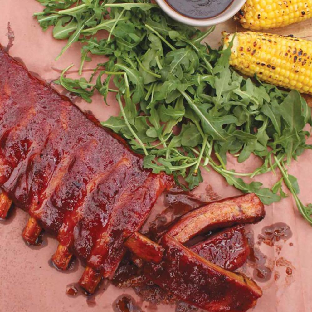 Bourbon Glazed Pork Ribs- loin ribs