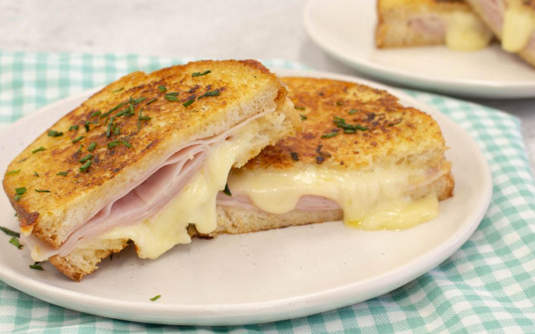 Ham & Cheese Garlic Bread Toastie