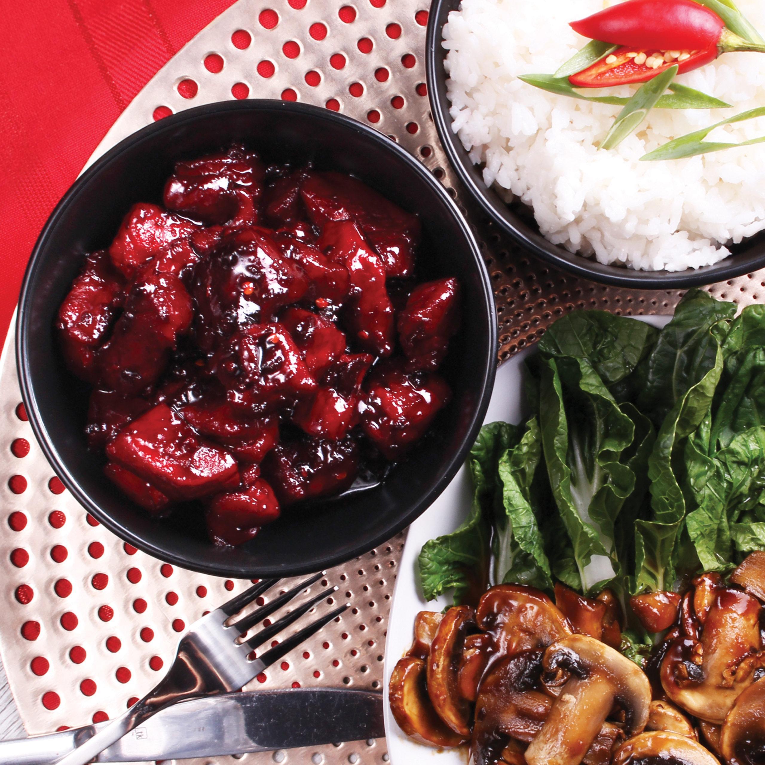 Szechuan Braised Pork Belly - Pork belly rind off