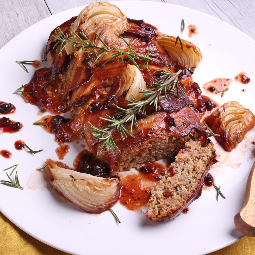 Bacon & Fennel Meatloaf with Fig & Onion Relish
