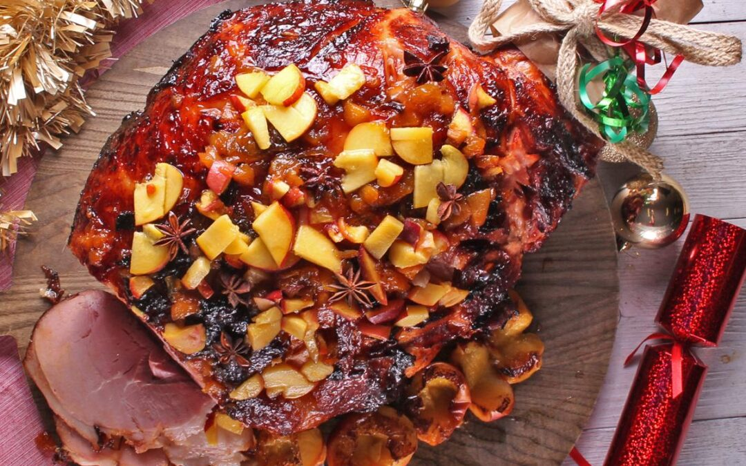 Leg Ham With Peach & Rum Glaze