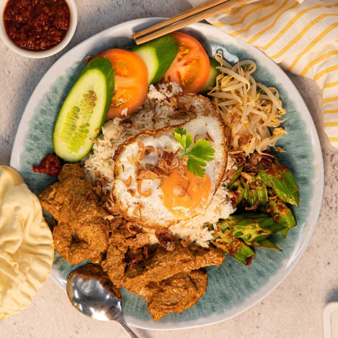 SunPork Pork Rendang Nasi Lamek
