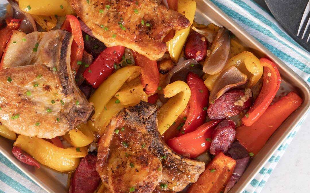 Smoked Paprika Pork Chop with Peppers