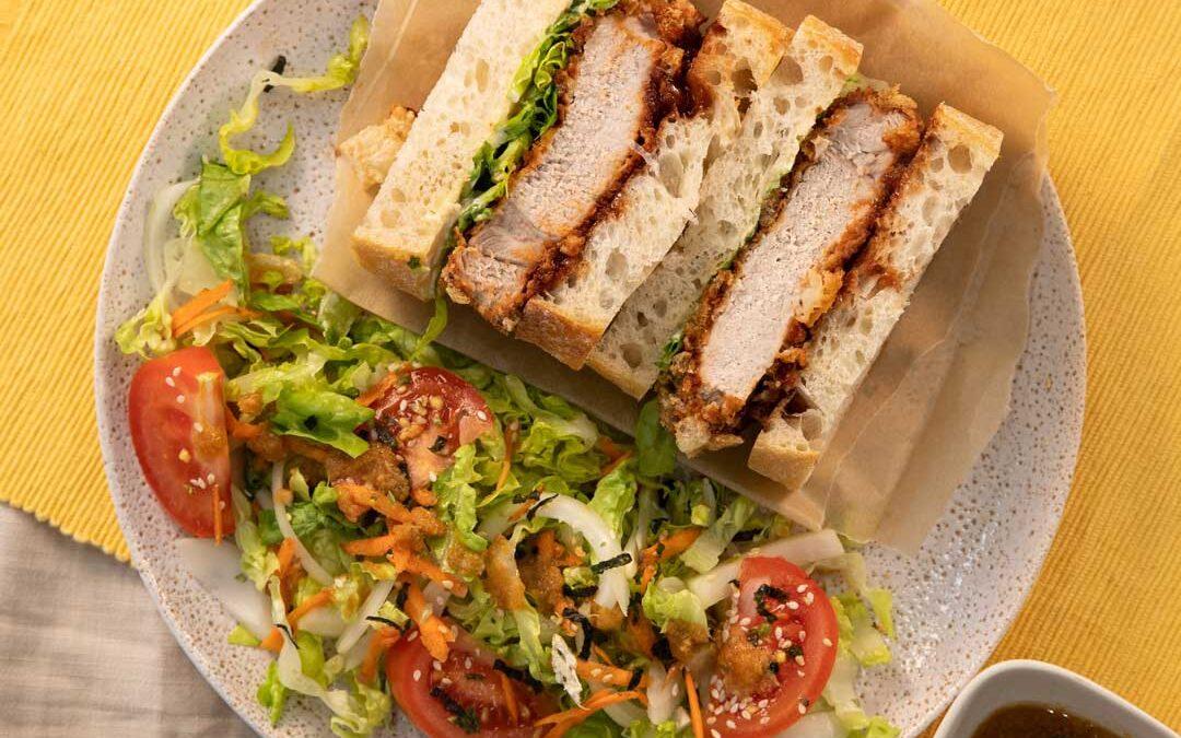 Pork Crackle Katsu Sandwich