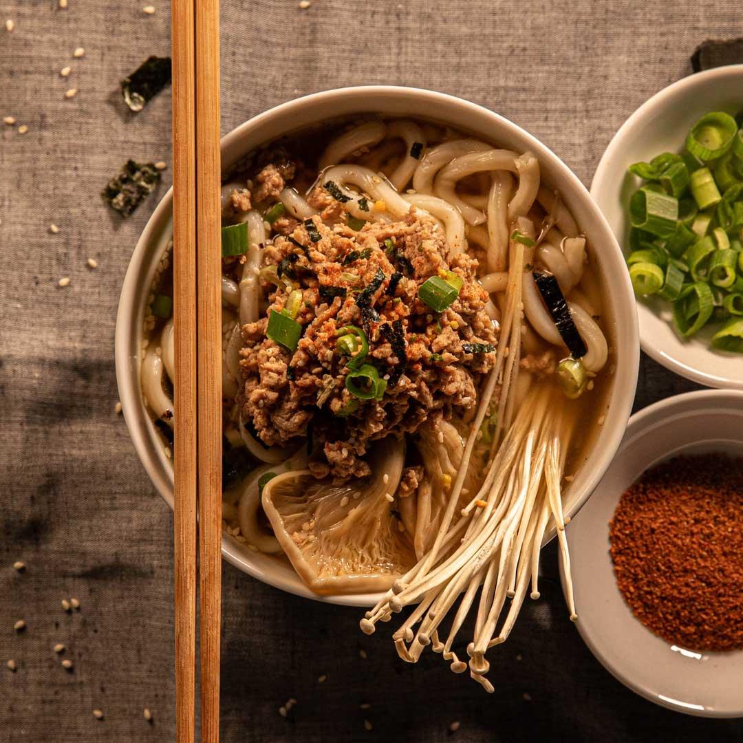 SunPork Recipe Pork Mushroom Udon