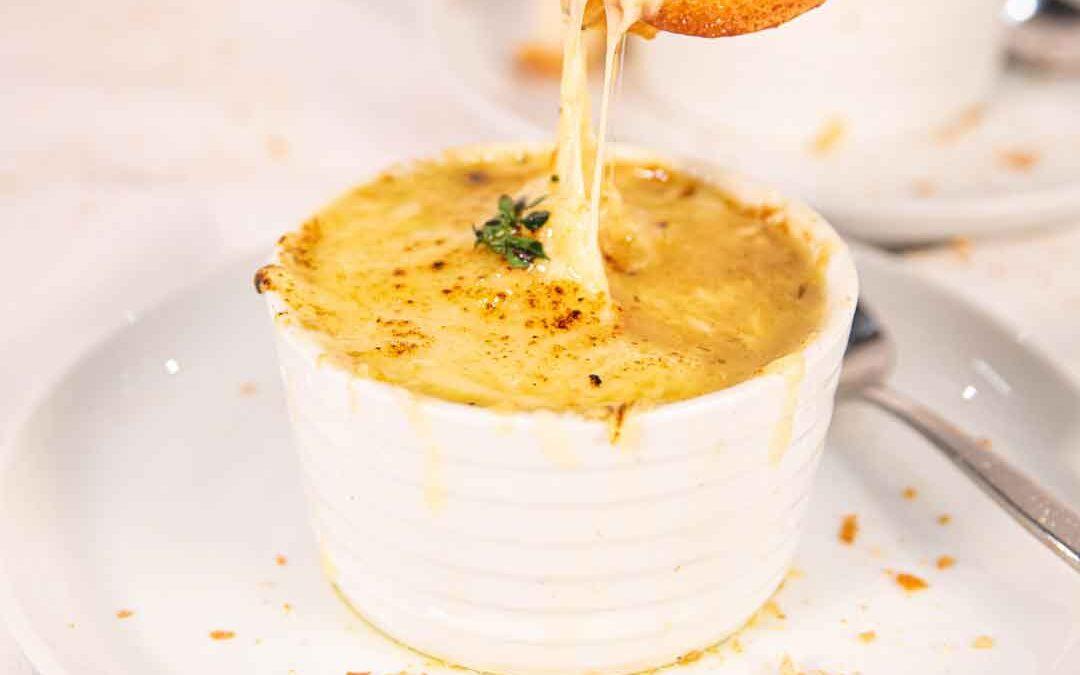 Cheesy Bacon French Onion Soup