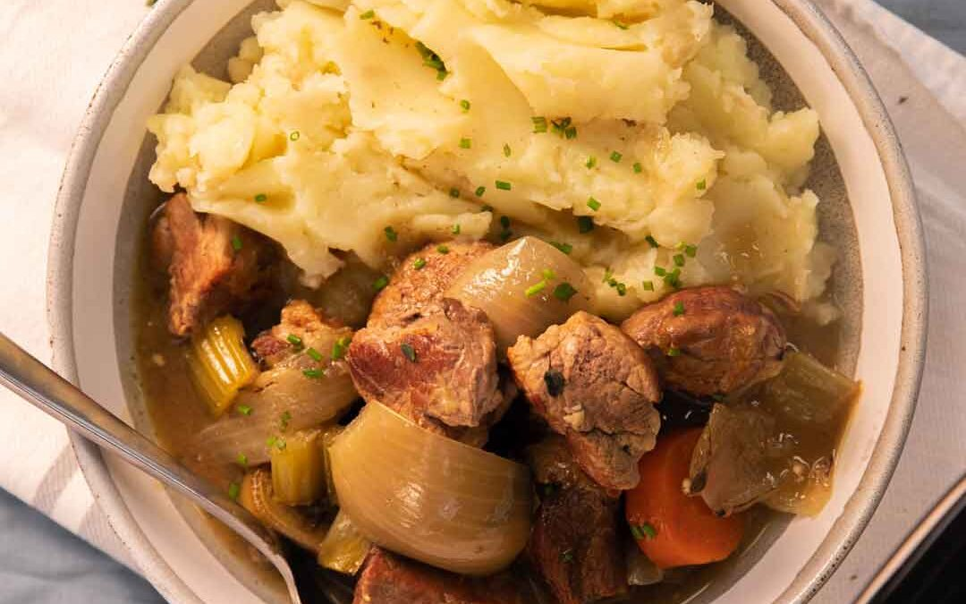 Slow Cooker Pork Shoulder Casserole