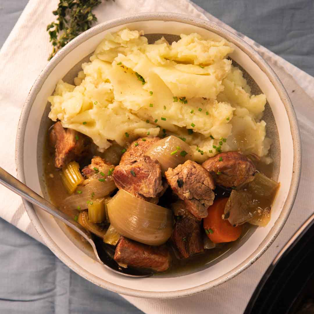 SunPork Fresh Foods Slow Cooker Pork Shoulder Casserole
