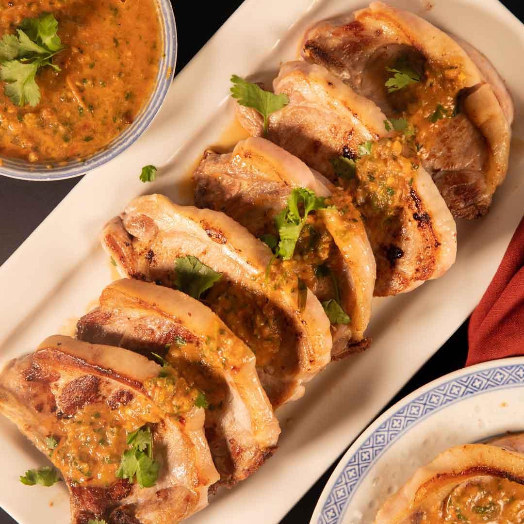 SunPork Tuk Trey Ping Poh Pork Chops